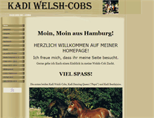 Tablet Preview of kadi-welsh-cob.de